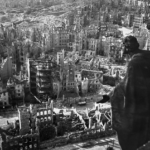 Photographs – Dresden, Germany after firebombing attack by British and American bombers, February, 1944.