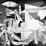 Guernica, Pablo Picasso, 1937, oil on canvas, (3.5m x 7.8m), Madrid, Museo Nacional Centro de Arte Reina Sofía.