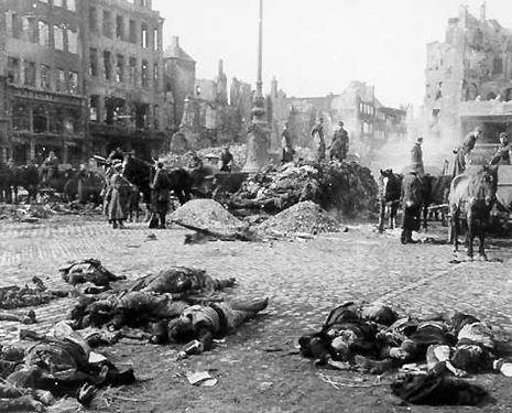 Aftermath of bombing of Guernica, Spain, April 1937.