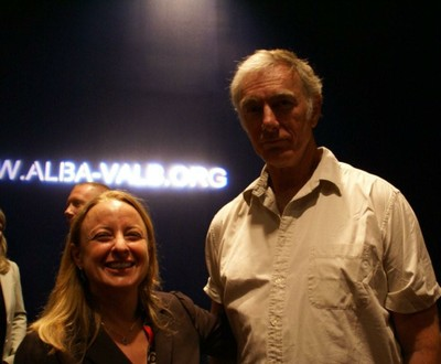 ALBA Board Member John Sayles and ALBA Executive Director Jeanne Houck at reception.